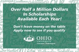 Over Half a Million Dollars In Scholarships Available Each Year! Don't leave money on the table Apply now to see if you qualify