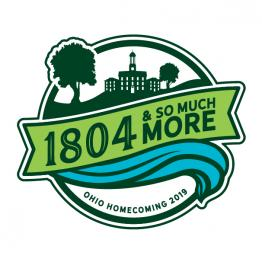 "Homecoming 2019 logo: ""1804 and So Much More"""