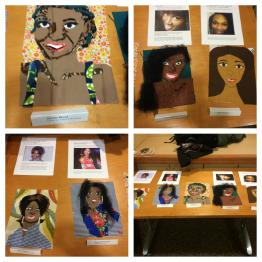 Craftivist creations from the 2015 SayHerName program at Ohio University