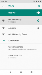 Android Wi-Fi Options