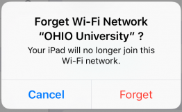 iOS Forget Network