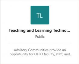 Screen shot of Teaching and Learning Technologies join dialog