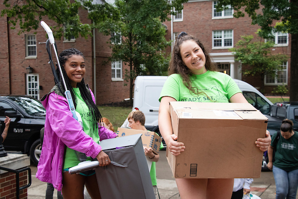 Students move into their residence halls before the fun events begin during Welcome Week. Photo courtesy of Student Affairs