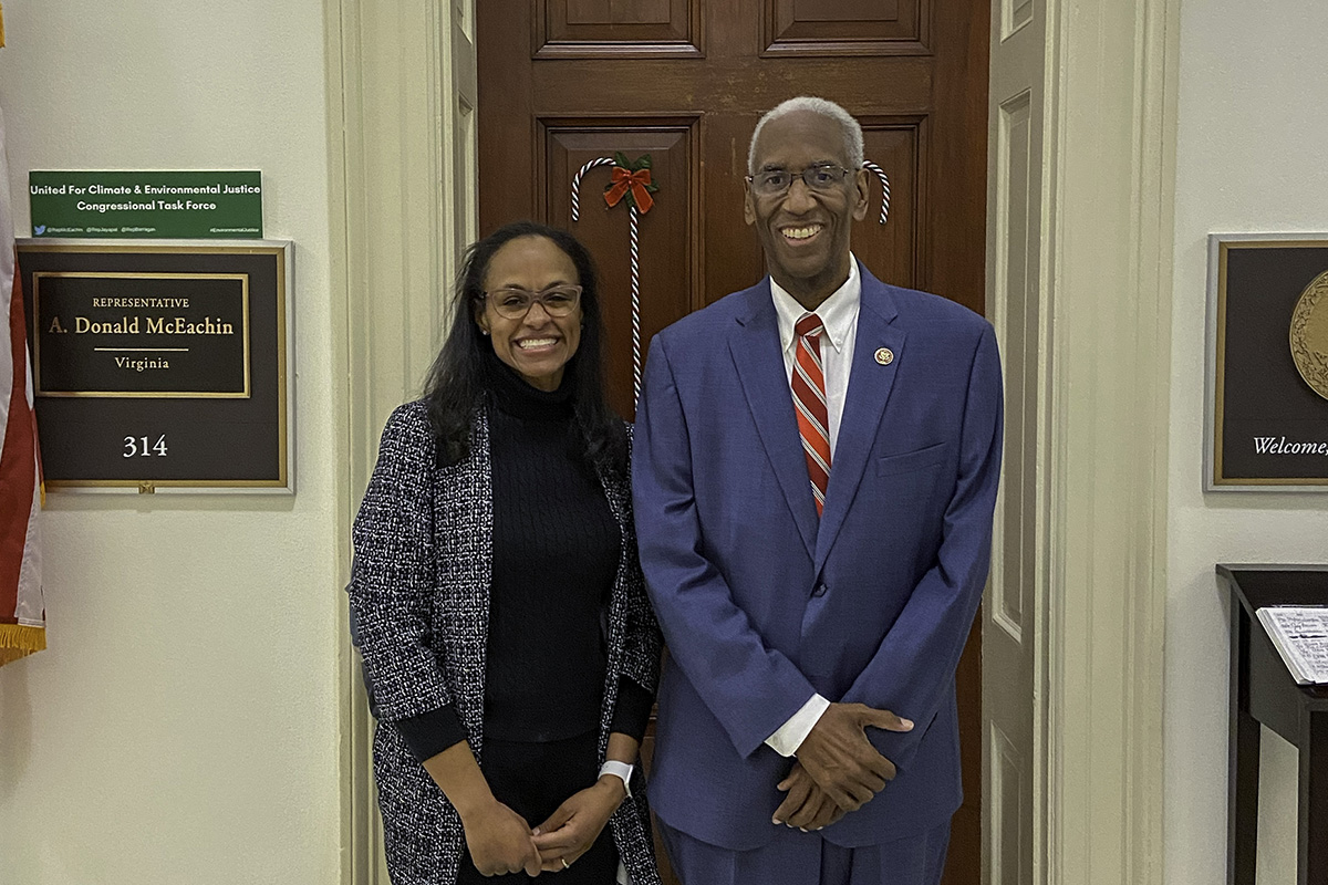 EPPLC cohort member Kathleen Blackwell with Rep. Donald McEachin