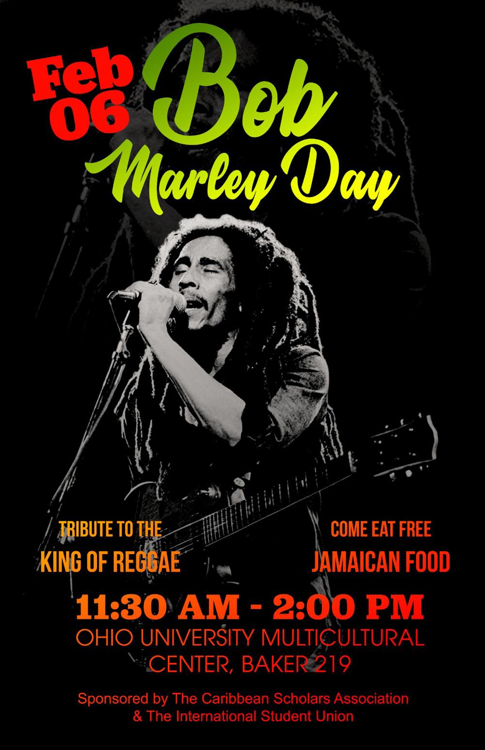 Bob Marley Day celebration is Feb. 6