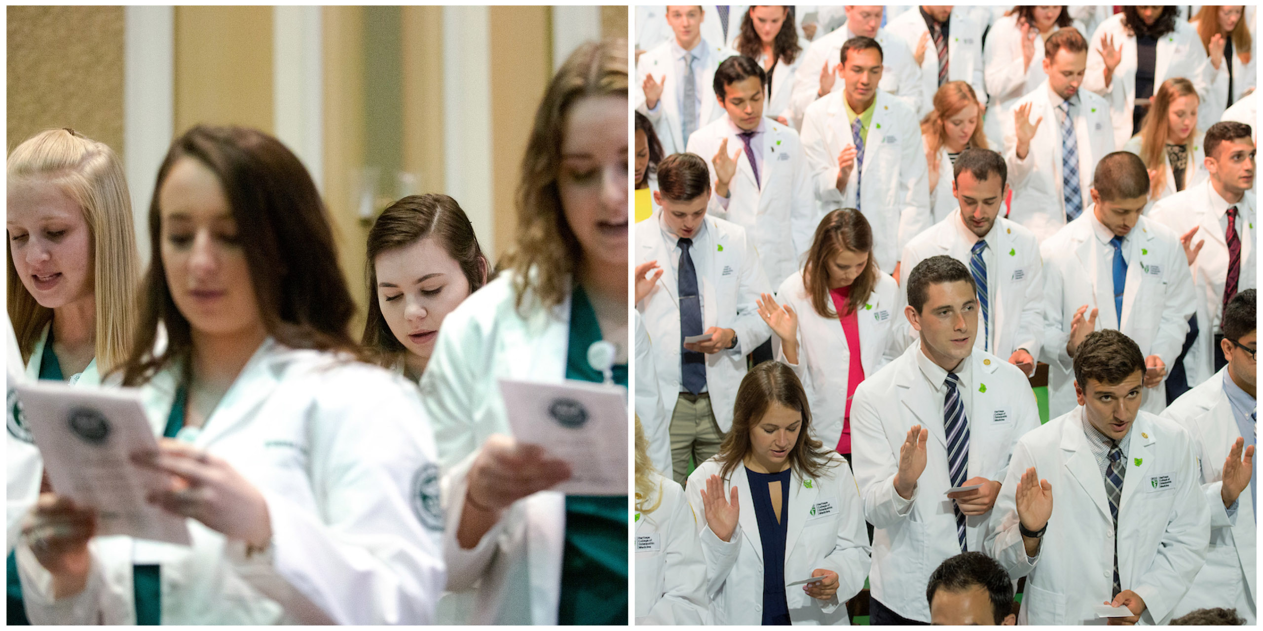 Nursing and medical students will receive their degrees a few weeks early in 2020.