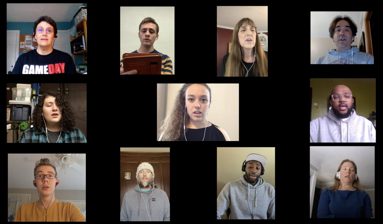 "In the midst of the COVID-19 pandemic, Shaker Heights High School students, alumni, and teachers came together to sing Frank Ticheli's ""Earth Song"" with the intention of bringing joy amid the darkness of the global pandemic."