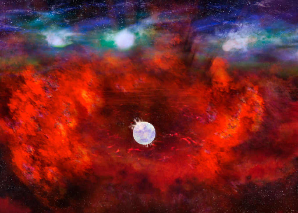 Artist's rendering of Supernova 1987A