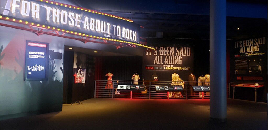 Part of the social justice exhibit at the Rock & Roll Hall of Fame in Cleveland, Ohio