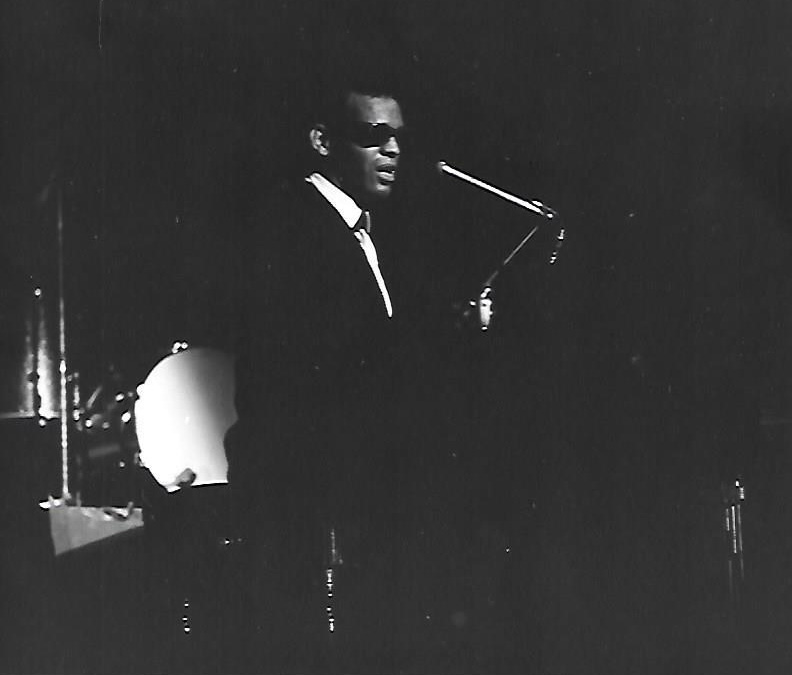 A 1964 photo of Ray Charles performing, taken by Chuck Stewart