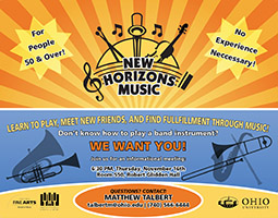 The Athens New Horizons Band is holding a community interest meeting November 16, 6:30 p.m. in Room 550, Robert Glidden Hall