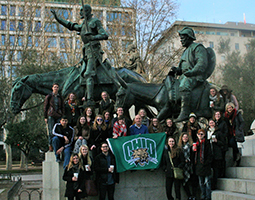 Ohio University students who participated in the last Spring Semester in Toledo, Spain Program pose for a photo during the program.
