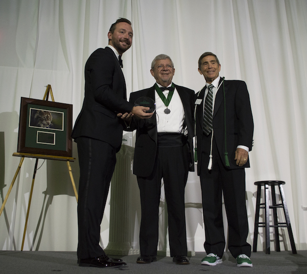 David Palmer accepted the Honorary Alumnus Award.