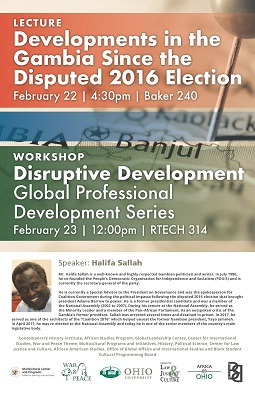 Halifa Sallah to visit OHIO Feb. 21-23