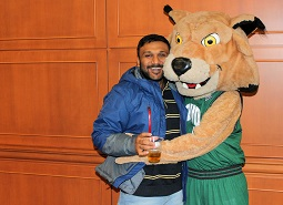Rufus helped to welcome Ohio University's newest international students to campus to start the new semester.