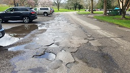 potholes on South Green Drive