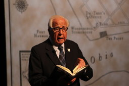 David McCullough speaks at the event on May 31.