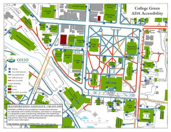 College Green ADA map