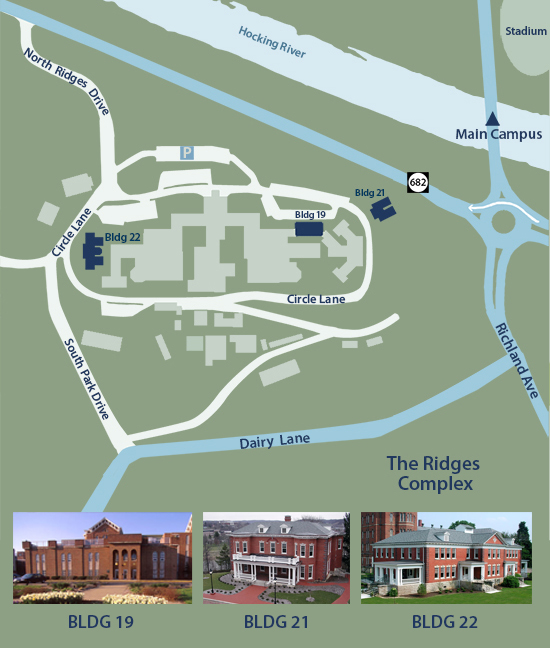 Map of the Voinovich School locations at the Ridges